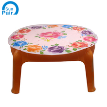 Colorful In mould label with flower design for plastic desk