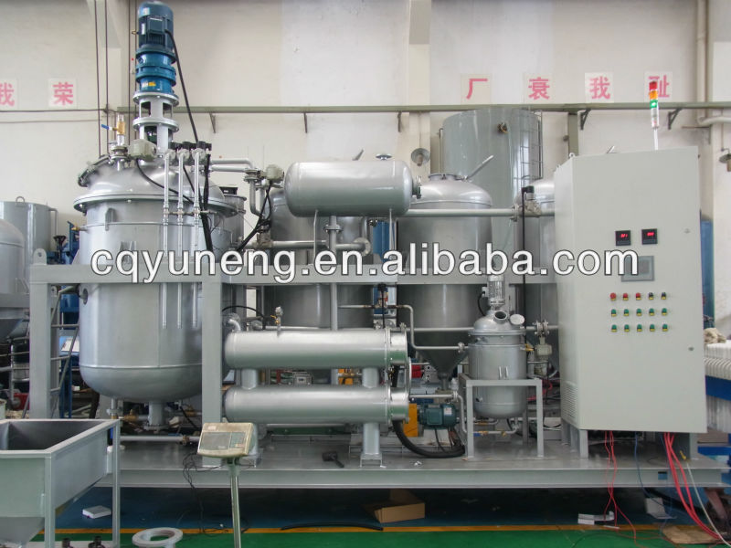 waste black Diesel oil recycling machine engine oil bleaching