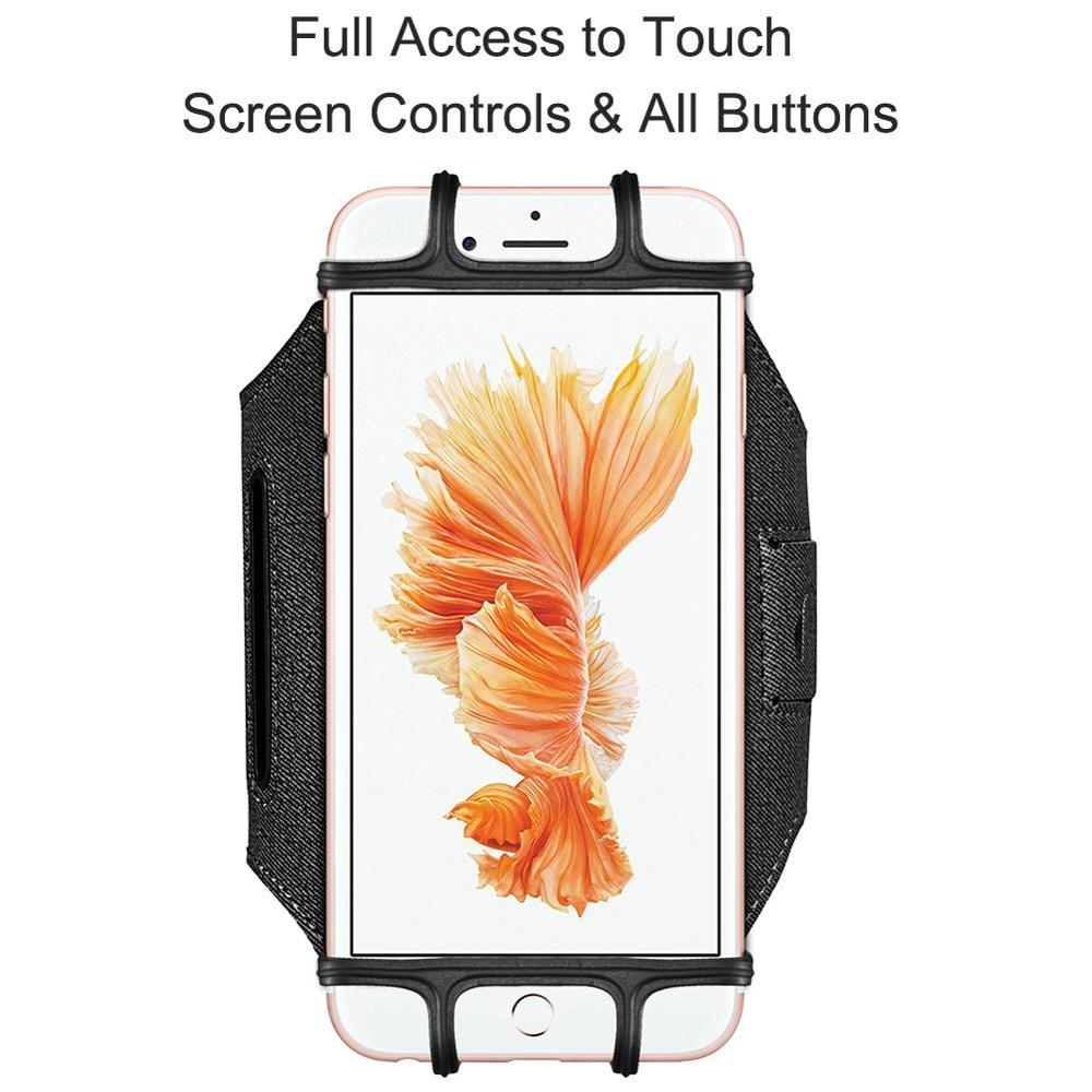 Sports Armband, VUP+ Workout Forearm Wristband Phone Holder 180 Rotatable for Running Cycling Gym