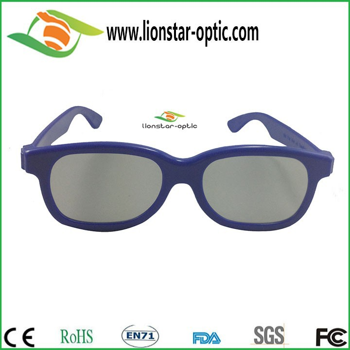 Stylish circular polarized 3d glasses for kids , cinema need for 3d movies