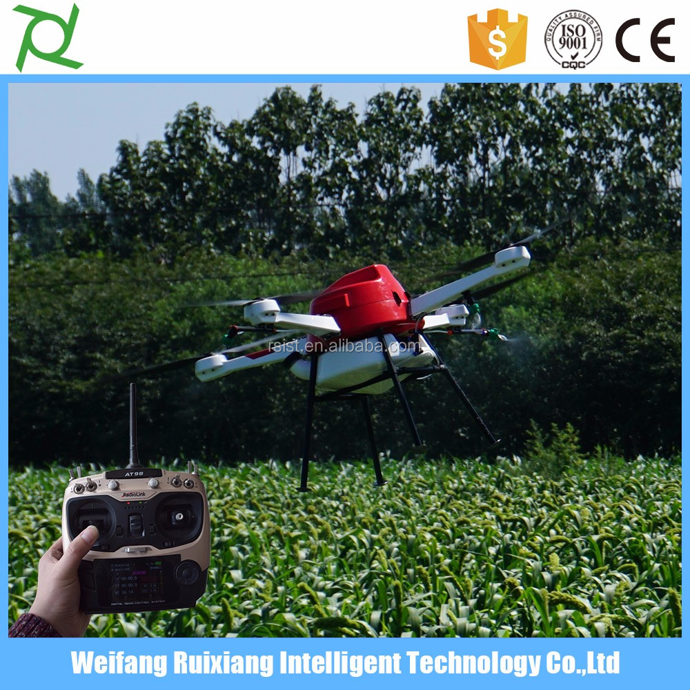 10L pesticide tank agricultural drones uav unmanned aircraft for crop spraying
