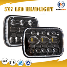 "Led Truck Light 54W H4 Led Headlamp Hi/Lo Beam Projector 5x7"" 7x6"" Square Led Headlight Truck Tractor Jeep Headlight"