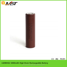 100% original LG Chem INR18650 HG2 3000mAh 20a 3.7v li-ion rechargeable battery HG2 18650 3000mAh high power cell for box mod