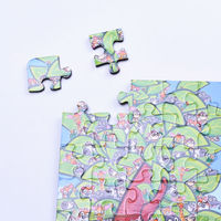 Children Magnetic Puzzle with jigsaw diecut Fridge Magnetic Toys