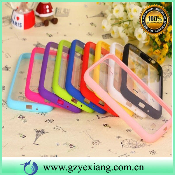 High Quality Color Frame Hard Clear PC TPU Case For Iphone 5