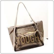 handbags two in one clear tote bags for lady,lady tote bag wholesale