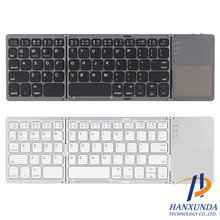 ultra thin wireless folding keyboard aluminum bluetooth smart tablet studios universal laptop slim keyboard
