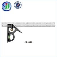 Clear surface square ruler with water level for sale