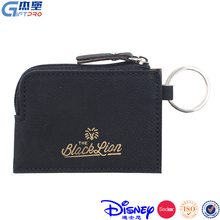 PU keychain mini card holder for credit card ,coin ,money