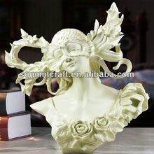 2014 European lady head goddess statue art minds crafts
