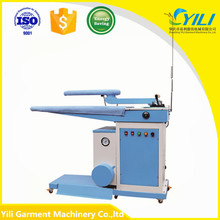 single swing arm buck automatic shirt steam and electric heating ironing press machine
