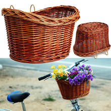 brown wholesale wicker dogs bike basket
