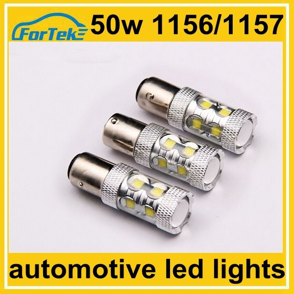 12v 50W super bright auto led parking light reversing lamp 1156/1157 with lens