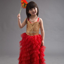 Girls dress new model sequin tutu wholesale children long frocks designs