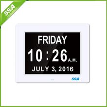 2016 directly supply electric calendar clock for elderly with Non-Abbreviated Day & Month