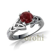 HG31-Ruby-W-2012 Fashion Cheap 18K Gold Plated Large Gemstones Ring