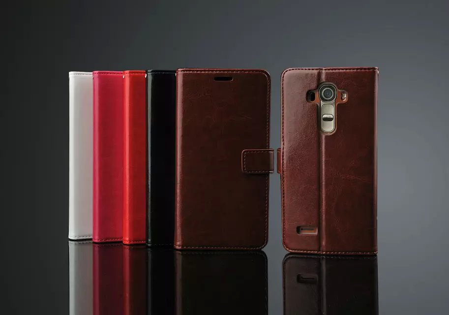 Luxury Business Style Stand Wallet Cases For LG Optimus G Pro 2 F350 D837 D838/ With Card Slot PU Leather Case