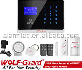 ademco contract id gsm alarm system with Touch Screen