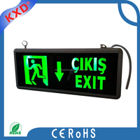 Green Colours Safety Emergency Stairs Lights Led Exit Sign