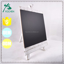 Antique White Finish Standing Wooden Message Blackboard