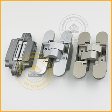 Concealed hinge for non-rebated interior door