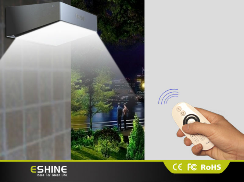 Outdoor Led Solar Lighting Reflector With Remote Control Lamp For Garden Home
