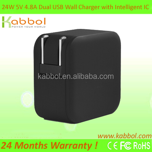 2015 Wholesale 5V 4.8A Portable Mini Micro Wall Mobile USB Charger for Motorola Droid Turbo, HTC Butterfly 2, Galaxy S6 S6 Edge
