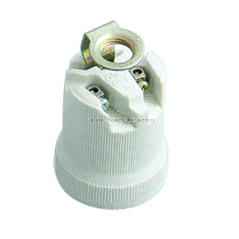 CE E14 ceramic CFL lamp socket holder