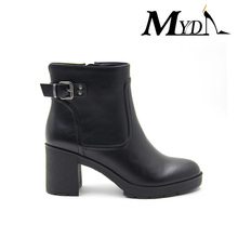 wholesale fashionable spring high chunky heel women work boots