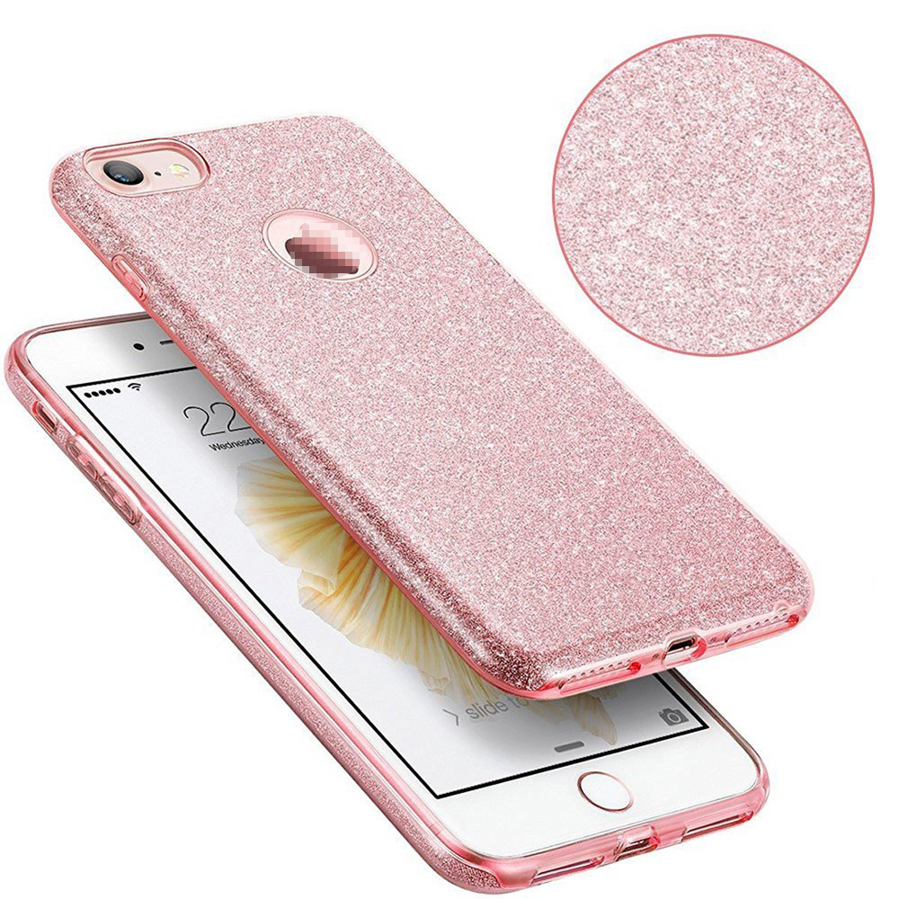 C&T Luxury Bling Hybrid Armor Slim Drop Protective Back Cover Shinning Clear TPU Bling Crystal Glitter Case for iPhone 7 4.7""