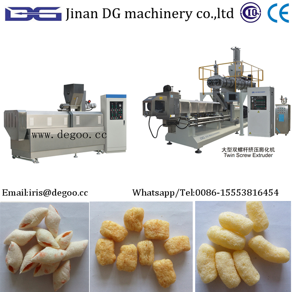 Extruded core-filled puff snack food making equipment