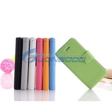 Wholesale fashion pure color flip pu leather case with folding stand for iphone