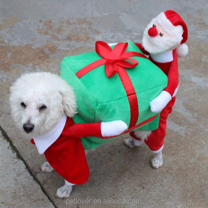 Pet Cosplay Santa Claus Dog Christmas Costume