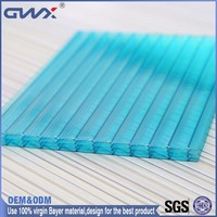 Greenhouse roofing plastic panels for walls Bayer material PC sun sheet