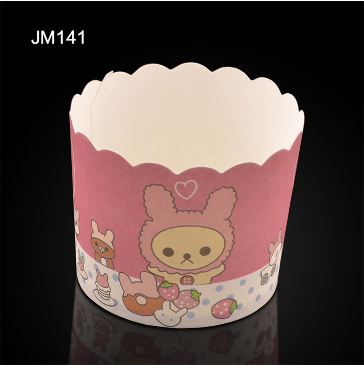 Medium Round High Temperature Resistant Oven-safe Waved Muffin Paper Baking Cupcake Cup Liner 3000pcs