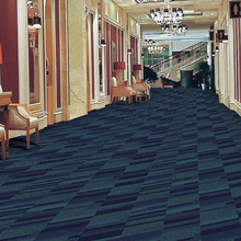 K5004, wool blended royal blue carpet for commercial usage