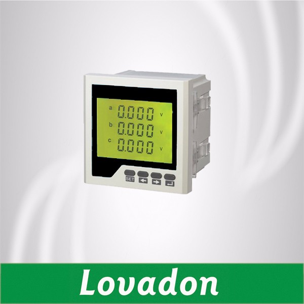Three Phase Energy Meter Lcd Display Digital Volt Meter