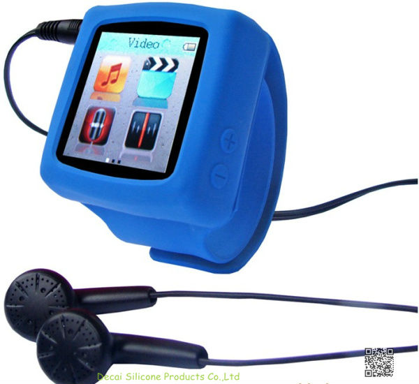11 cm silicone watch mp4/mp3 with multifunctional time camera