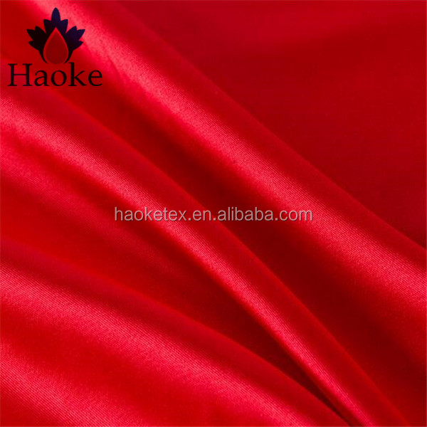 97% polyester 3% spandex woven stretch satin silk fabric