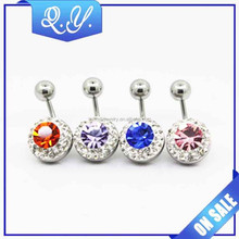 Natural Stone Big Gem Navel Ring Cheap Body Piercing Jewelry Supply