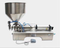 Horizontal semi-automatic small-scale liquid filling machine for yogurt and milk shake 100-1000ml