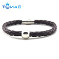 Guangzhou fashion cheap mens leather bracelets jewelry