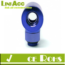 linkacc js-66 Monsoon 16/10mm OD 5/8 Light Port Rotary 90 - Blue