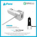Qualcomm Quick charge 3.0 + 3A Type-c,33w car charger with 1M USB-C cable,IC protector for iPhone iPad Galaxy S7/S6/Edge/Plus
