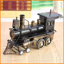 sell like hot cakes! Retro locomotive metal ornaments home decorations creative gifts wholesale TY113