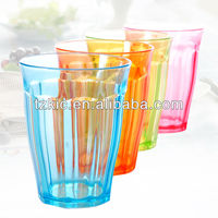 150ml high quality Fluted plastic cup tumbler