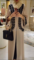 Hot selling distinctive jubah abaya simple feather priting cardigans kimono Front Open Abaya