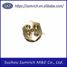 Customized high precision OEM CNC hex bolt brass turning mechanical parts