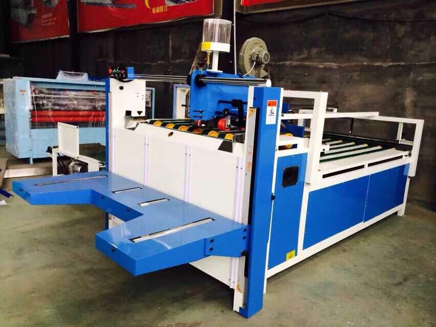 carton packaging machine semi automatic carton box folder gluer machine cardboard glue machine price