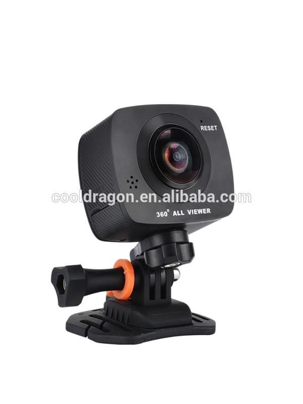 AMKOV AMK200S pano view action camera dual lens 8MP CMOS 10800P 30fps 220 degree fish eye wifi